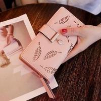 5Color 海外 ブランド 人気 長財布 レディース リーフ 革 シンプル 使いやすい キレイ コーデ おしゃれ おすすめ  クラッチ カジュアル フェミニン 20代 30代