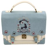 海外 ブランド 人気 ハンドバック バックパック 2way レディース アリス ディズニー プリンセス ロリータ ゴスロリ 可愛い 革 キレイ バックパック女子 旅行 バック ショッピング ゴスロリ