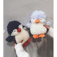 2Color 海外ブランド 人気  オシャレ 可愛い 「ペンギン ショルダーバック レディース」 大人可愛い フェミニン パンク ぬいぐるみ 使いやすい 安い バック B-  1956