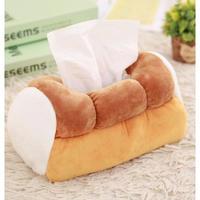 1Color 海外ブランド 人気  雑貨 可愛い「ふわふわパン テッシュカバー」 ルーム インテリア 食パン 可愛い 女子力 映え 使いやすい