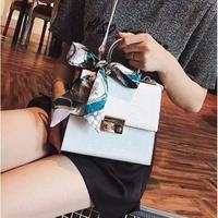 3color 海外ブランド ハンドバッグ 人気新作 フラップバッグ 2way クロスボディ ワニ柄 スカーフ付き 上品