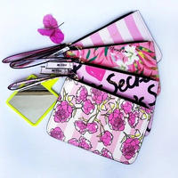 3Collar 海外ブランド ポーチ ロゴ 花 Cute 携帯ケース 化粧ポーチ クラッチ レディース 海外輸入品