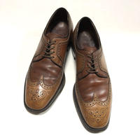 Banister Shoes 変形ウイングチップ ブラウン