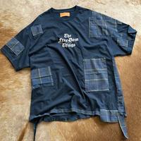 Classic Logo patchwork Tee (Navy)