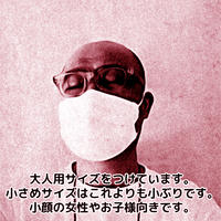 B【送料無料】店長さん手作り/洗える布マスク・小さめサイズ【晒布仕様/丸ゴムタイプ】1枚入り