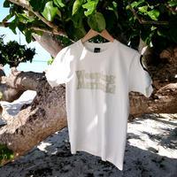 石垣島の人魚Tシャツ・ロゴタイプ / ホワイト