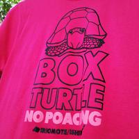 【送料無料】セマルハコガメ・密猟禁止Tシャツ/ショッキングピンク