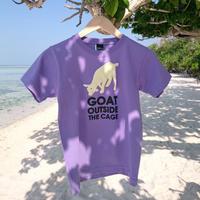 【廃番カラーセール】沖縄の金網の外にいる山羊は安全か? Tシャツ 130サイズ/パープル