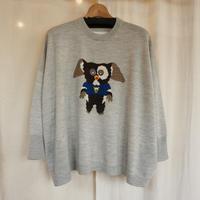bedsidedrama ハーフキャラのワイドセーター(grey)