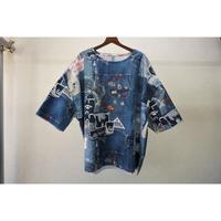 JUVENILE HALL ROLLCALL ビッグTシャツ(カスタマイズドデニムプリント)