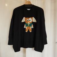 bedsidedrama ハーフキャラのワイドセーター(black)