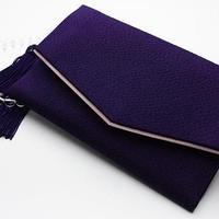 【高級念珠入れ】ちりめん 紫