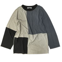Patchwork Raglan Sleeve⑤/サイズL