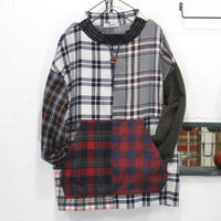 Flannel Mock neck pullover①