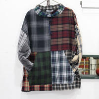 Flannel Mock neck pullover②