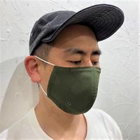 軽くて涼しい1枚仕立ての超立体マスク‐カーキグリーン‐M/L