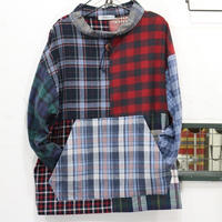 Flannel Mock neck pullover③