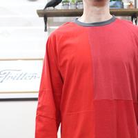 Patchwork Raglan Sleeve①/サイズL
