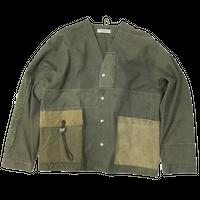 Vintage Tent NoCollar Jacket②/フリーサイズ