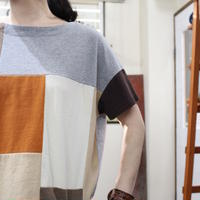 Patchwork Tee-Shirts ④/サイズフリー