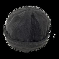 Denim Roll Cap④/サイズL/ブラック