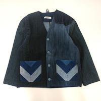 Denim No collar Jacket /Womans①/フリーサイズ