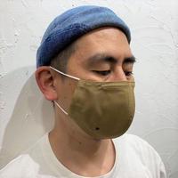 軽くて涼しい1枚仕立ての超立体マスク‐サンドベージュ‐M/L