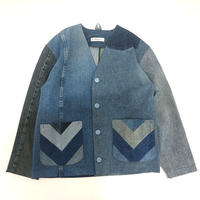 Denim No collar Jacket /Womans②/フリーサイズ