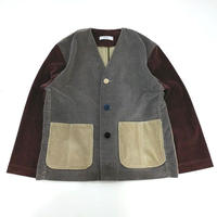 Corduroy Nocollar Jacket-Womans①