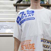 Print Patchwork T-sh③/Lサイズ