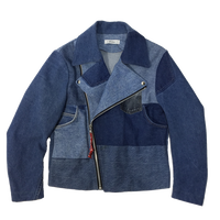 Denim Riders Jacket①/サイズS/ブルー