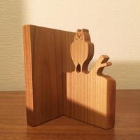 「BIRD BOOK END(トラフズク/ヤマザクラ)」
