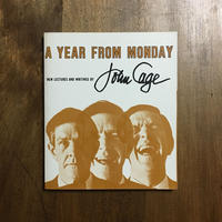 「A YEAR FROM MANDAY」John Cage(ジョン・ケージ)