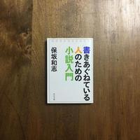 「書きあぐねている人のための小説入門」保坂和志