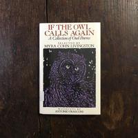 「IF THE OWL CALLS AGAIN」Myra Cohn Livingston Antonio Frasconi(アントニオ・フラスコーニ)