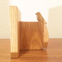 「BIRD BOOK END(コクホウジャク/タモ)」