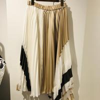配色アシメトリープリーツスカート(ダイアグラム)