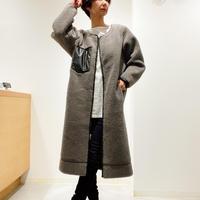 ボアロングジャケット(シロ R043309)