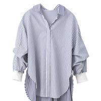 4/23ゲリラライブ 袖2WAYバックプリーツシャツ (ラリア・ムー 2113594)
