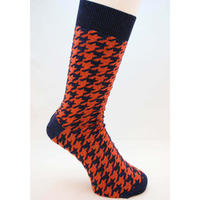 NEWUP | HOUNDSTOOTH | Midnight x Orange