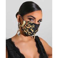 【LuxuryRose】 ゴージャス スカーフ柄 マスク