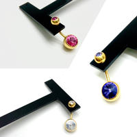 【LuxuryRose】 三色あり‼️ラインストーン へそピアス ボディピアス