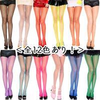 【MUSIC LEGS】 全12色あり‼️ フィッシュネットパンティーストッキング