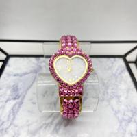 【Luxury Rose】ハート形 ラインストーン 腕時計 💖⌚️