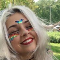 【Face Lace】 レインボー メタリック フェイスシール Hokuledscope