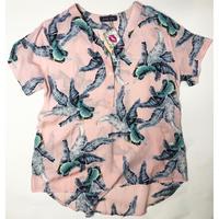 【LuxuryRose】リゾート ボタニカル柄プルオーバーシャツ