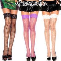 【MUSICLEGS】ダイアモンドネット×レーストップ タイハイストッキング