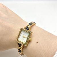 【LZ New York】レオパード柄 キラキラ スワロフスキー 腕時計