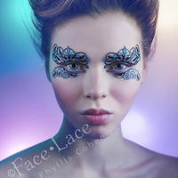 【Face Lace】メイクアップ ステッカーloveme tendril