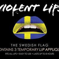 大人気【VIOLENTLIPS】リップ タトゥーシール  THE SWEDISH FLAG